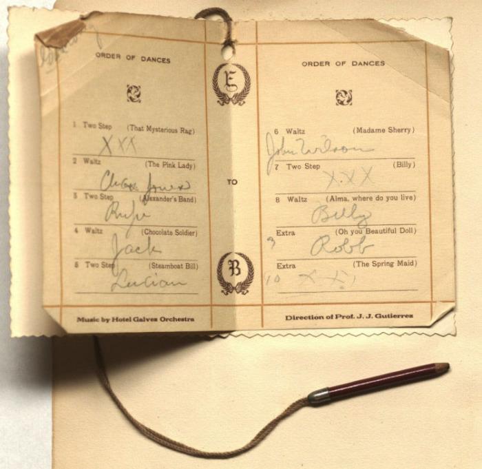 Бальная книжка. 1912 г.