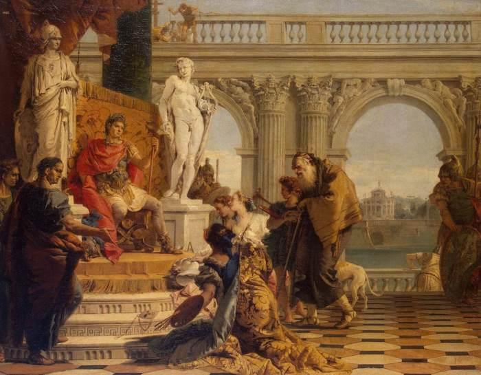 Тьеполо Джованни Баттиста «Меценат представляет императору Августу свободные искусства»
