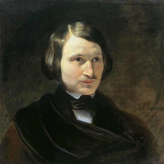 Николай Васильевич Гоголь, портрет кисти Федора Моллера