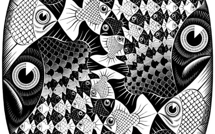 Мауриц Эшер «Рыбы» (1946 г.)
