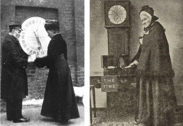 Рут Бельвиль (1908 год) и ее мать  Мария Бельвиль (1892 год). Обе женщины работали продавцами времени