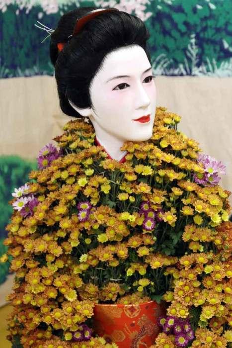 Видели все на свете/ Мои глаза - и вернулись/ К вам, белые хризантемы. (Рансэцу (1654-1707)