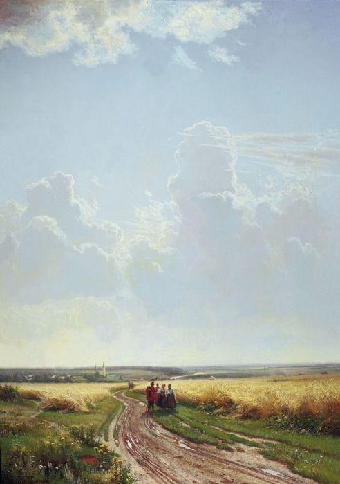 """""""Полден. В окрестностях Москвы"""", 1869г."""