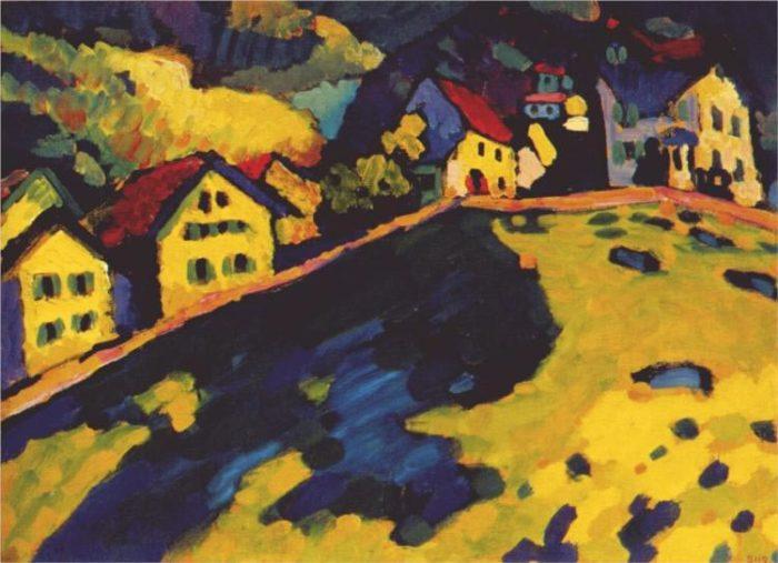 """""""Дома в Мурнау"""", 1909г."""