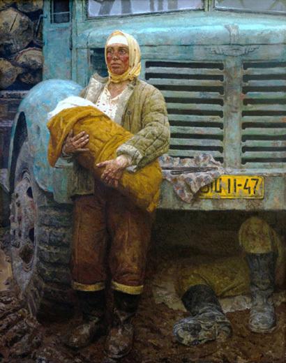 """""""В дороге""""1962г. Самарский областной художественный музей"""