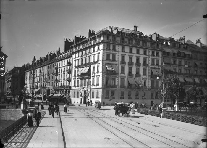 Гостиница «Россия» в Женеве,фото 1905г.