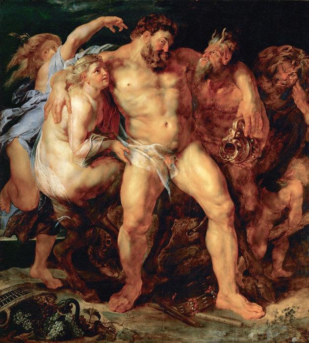 Пьяный Геркулес с нимфой и сатиром. 1611г.