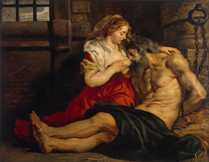 Отцелюбие римлянки. 1612г.