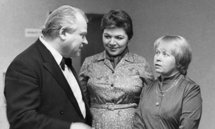 Тихон Хренников с Майей Кристалинской и Александрой Пахмутовой