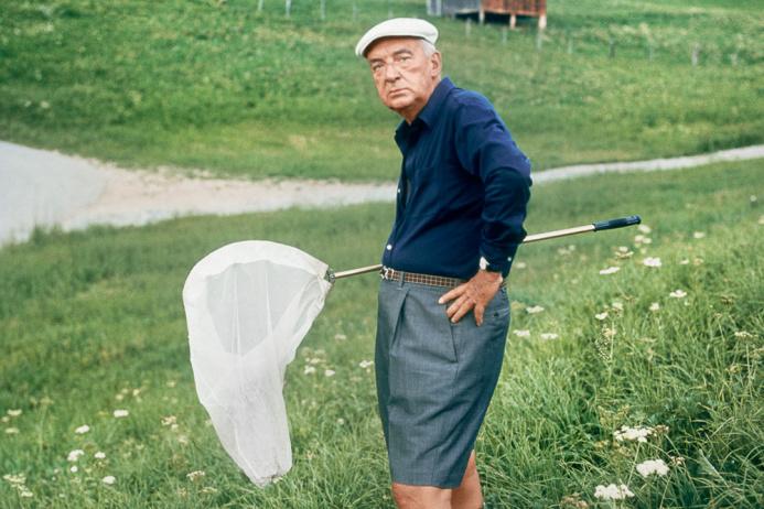 Владимир Набоков в окрестностях швейцарского Монтрё, 1975г. Фото: Хорст Тэйп