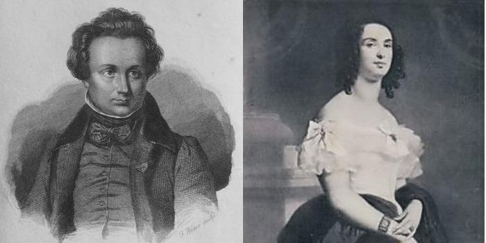 Виктор Гюго и Адель Фуше.