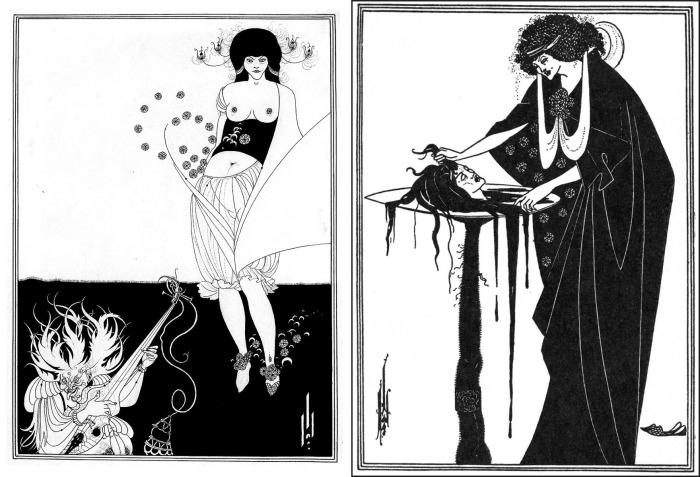 """Обри Бёрдслей. Иллюстрации к пьесе """"Саломея"""", 1894г."""