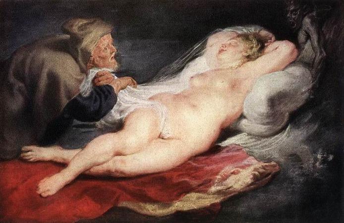 """""""Отшельник и спящая Анжелика. 1628г."""""""
