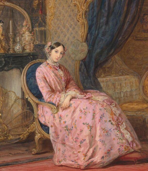 Мария Николаевна, герцогиня Лейхтенбергская. Работа Кристины Робертсон. / Фото: www.pinimg.com