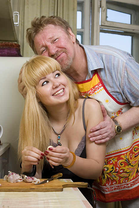 Семён Морозов с дочерью Надеждой. / Фото: www.samoshkin.narod.ru