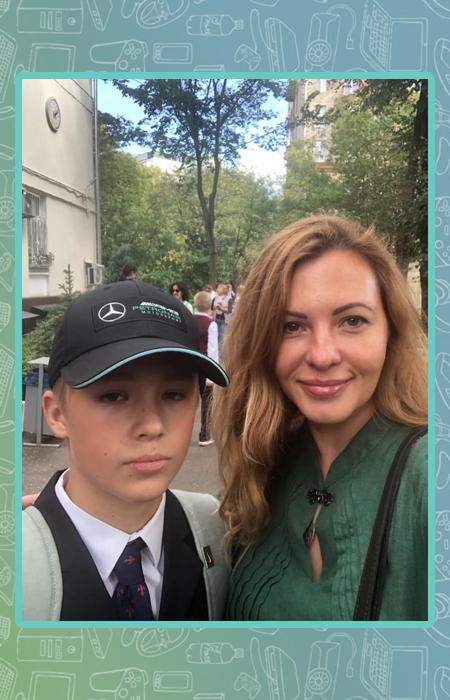 Ирина Полякова с сыном.
