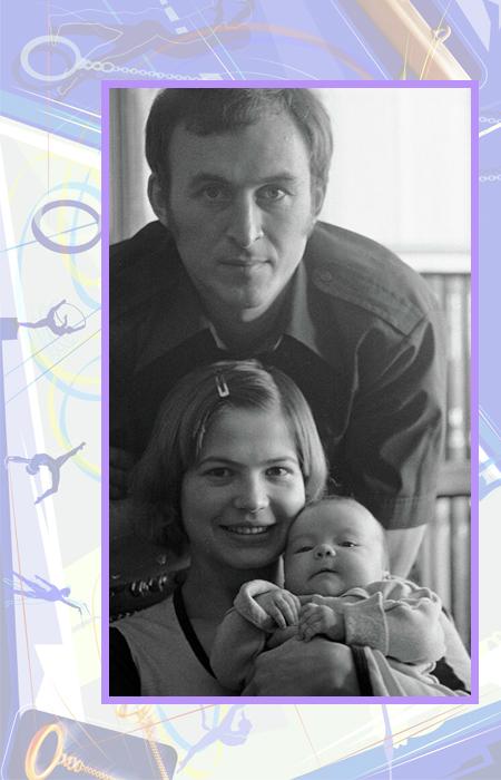 Людмила Турищева и Валерий Борзов с дочерью.