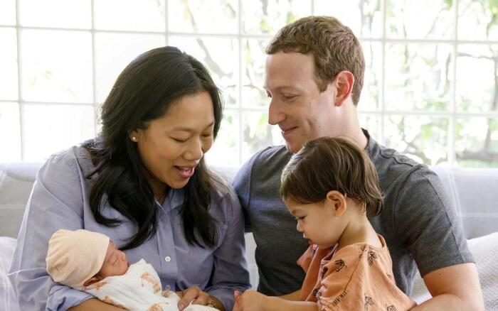Присцилла Чан и Марк Цукерберг с детьми.  / Фото: www.meredithcorp.io