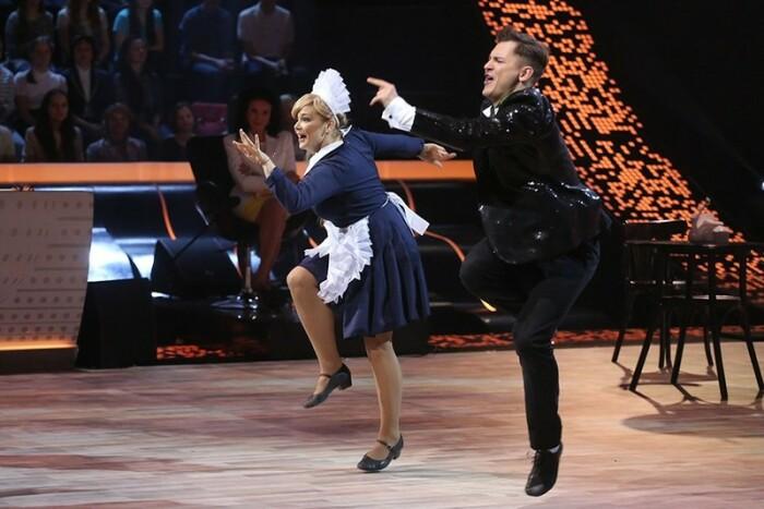 Ирина Пегова и Андрей Козловский в шоу «Танцы со звёздами». / Фото: www.woman.ru
