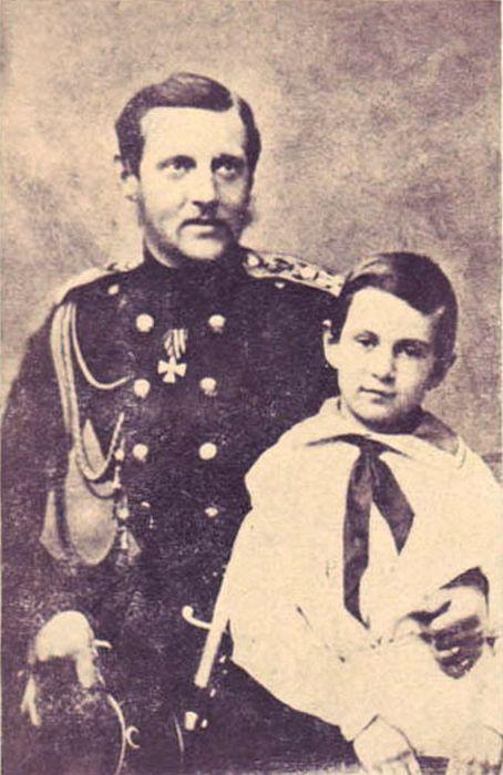 Николай Константинович с отцом. / Фото: www.yandex.net