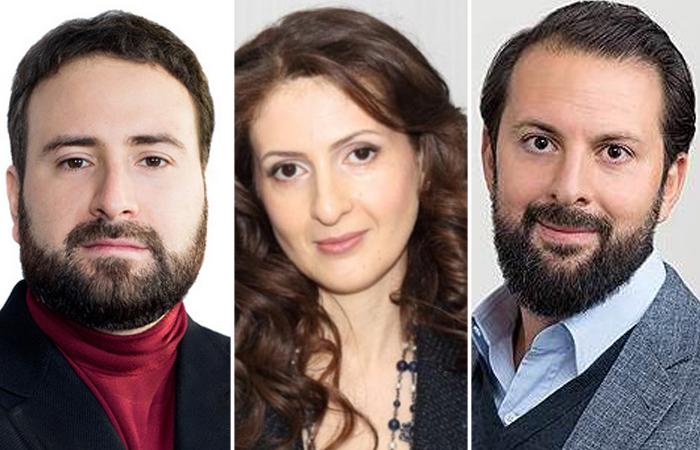 Евгений, Лидия и Сергей Михайловы.