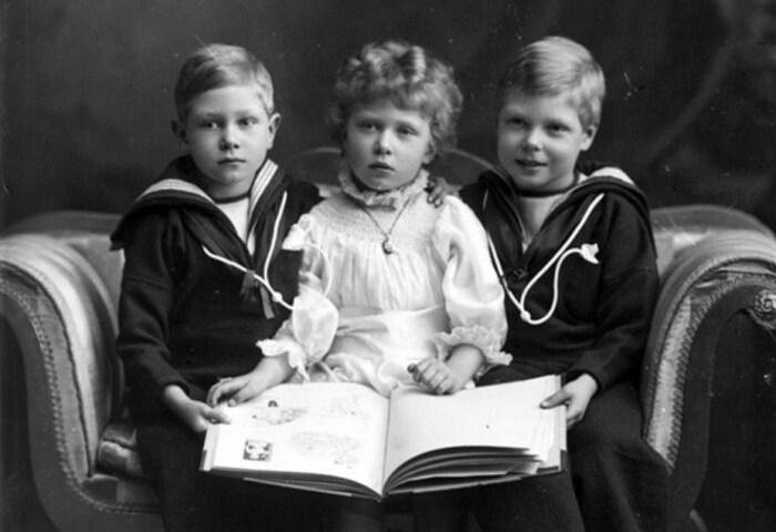 Принц Георг, принцесса Мария и принц Эдуард, 1901 год. / Фото: www.marieclaire.ru