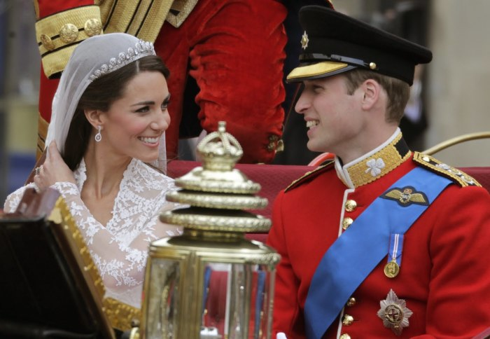 Кейт Миддлтон и принц Уильям. / Фото: www.newsday.com