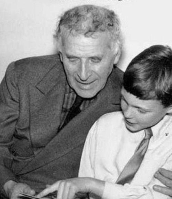 Марк Шагал с сыном Дэвидом. / Фото: www.belta.by