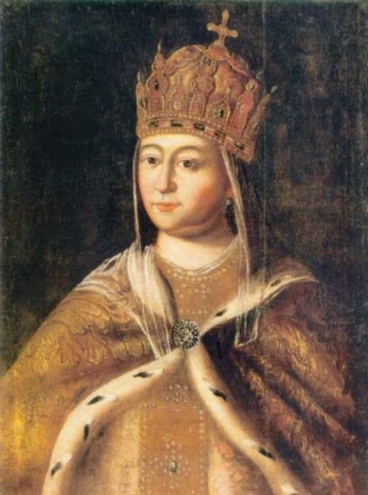 Неизвестный художник. Портрет Е.Л. Стрешневой. / Фото: www.wikimedia.org