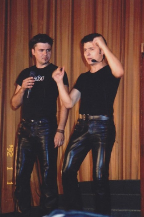 Юрий Карпов и Владимир Зеленский. / Фото: www.gloss.ua
