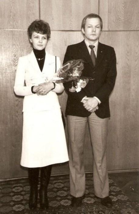 Марина Дюжева и Юрий Гейко в день бракосочетания. / Фото: www.pinimg.com