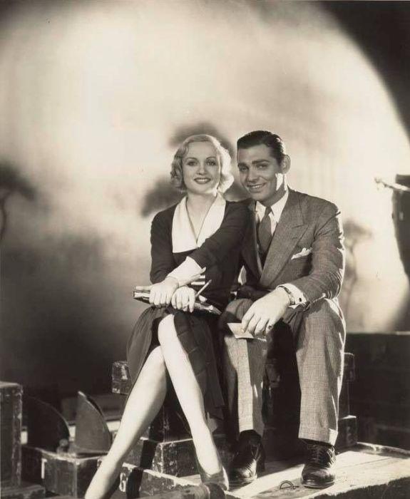 Кларк Гейбл и Кэрол Ломбард. / Фото: www.pinimg.com