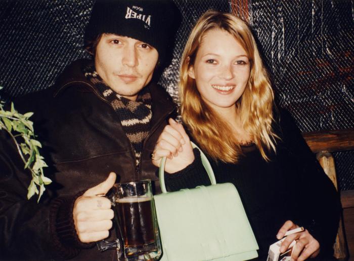 Джонни Депп и Кейт Мосс. / Фото: www.f1g.fr