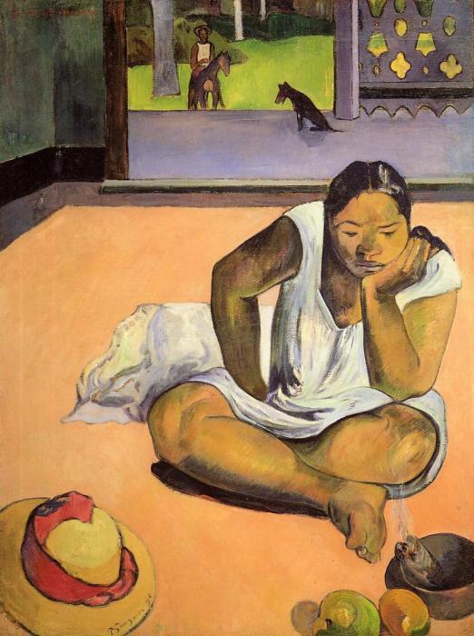 Поль Гоген, «Задумчивая женщина». / Фото: www.поль-гоген.рф