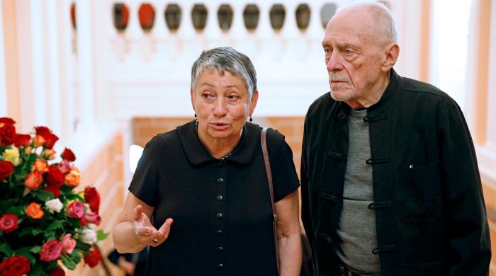 Людмила Улицкая и Андрей Красулин. / Фото: www.gazeta.ru