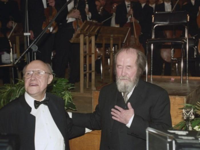 Мстислав Ростропович и Александр Солженицын. / Фото: www.visualrian.ru