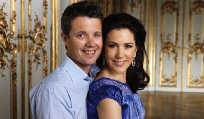 Мэри Дональдсон и принц Фредерик. / Фото: www.pinimg.com
