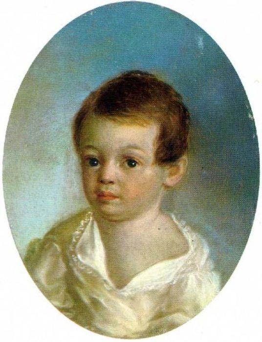 Маленький Александр Пушкин. / Фото: www.pinimg.com