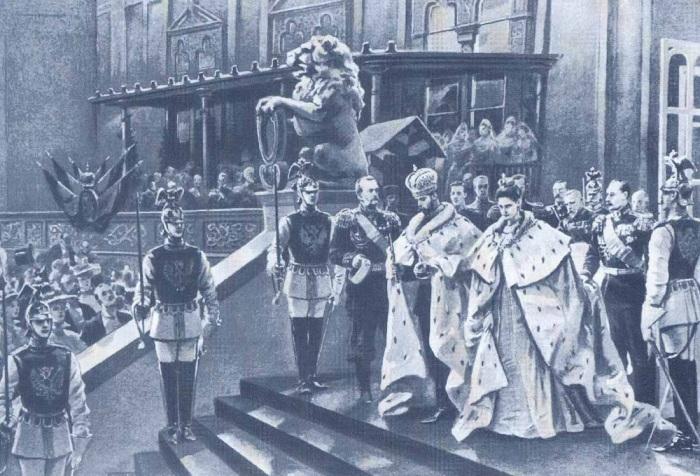 Николай II и его супруга после коронации. / Фото: www.mosantique.ru