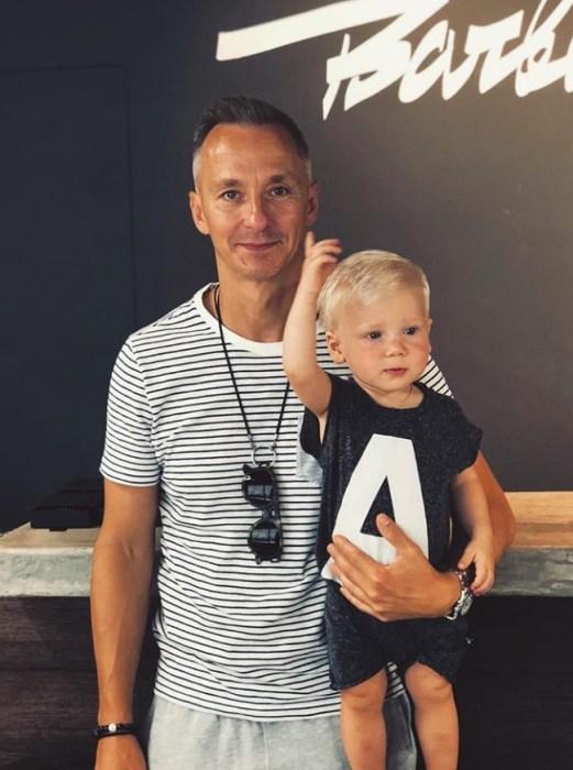 Степан Михалков с сыном Лукой. / Фото: www.instagram.com