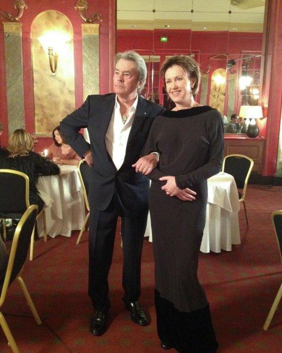 Ирина Розанова и Ален Делон. / Фото: www.bg-mamma.com