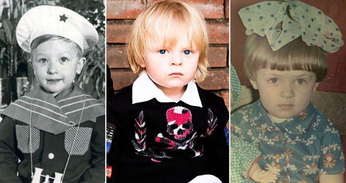 Евгений Плющенко и Яна Рудковская в детстве. В центре их сын Александр.