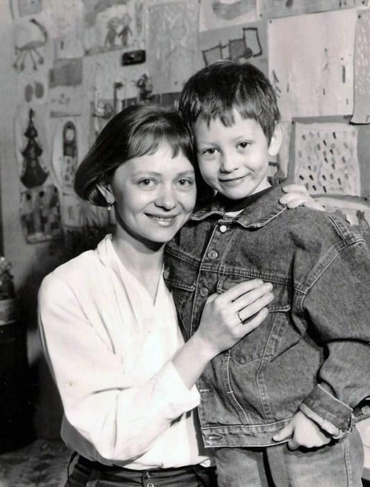 Татьяна Божок с сыном. / Фото: www.24smi.org