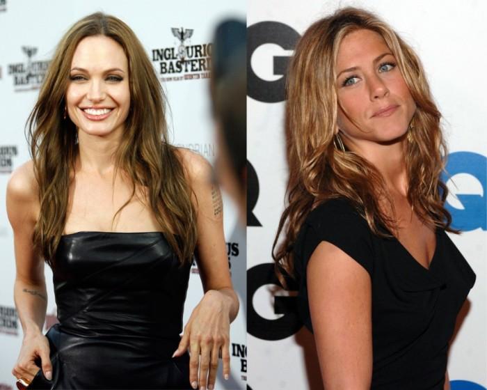 Анджелина Джоли и Дженнифер Энистон. / Фото: www.toopanda.com