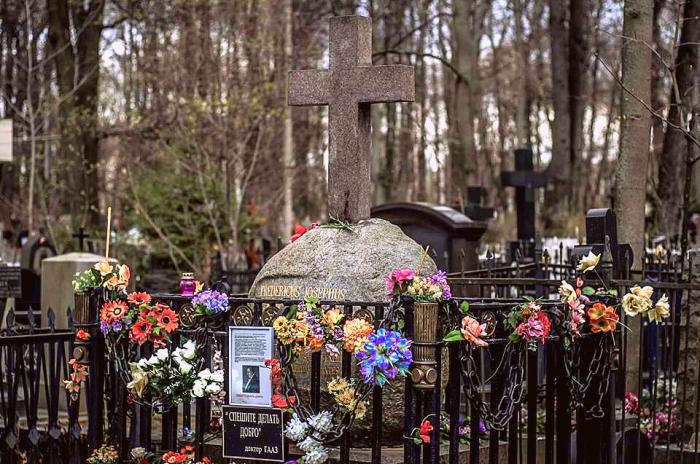 Могила доктора Гааза на Введенском кладбище. / Фото: www.dobro.fund