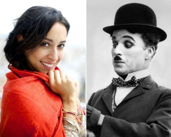 Уна Чаплин и Чарли Чаплин.