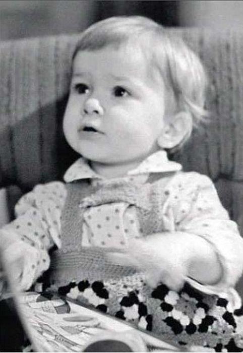 Дарья Юрская в детстве.