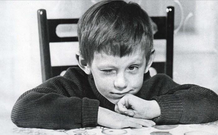 Александр Басов в детстве.