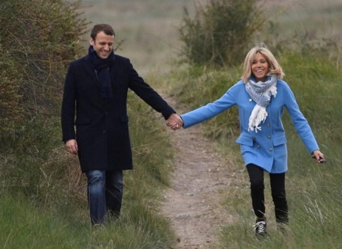 Эммануэль и Брижит Макрон. / Фото: www.telegraph.co.uk