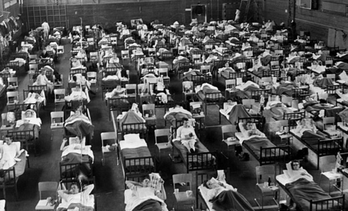 Госпиталь был развёрнут в шведском спортзале во время пандемии азиатского гриппа, 1957 г. / Фото: www.commuhealtibet.org